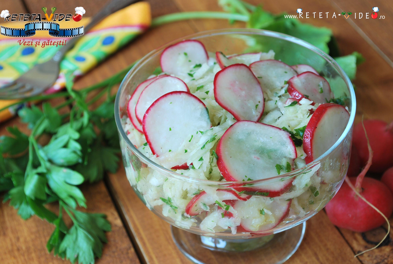 Salata de Gulii si Ridichi cu Sos Vinegreta