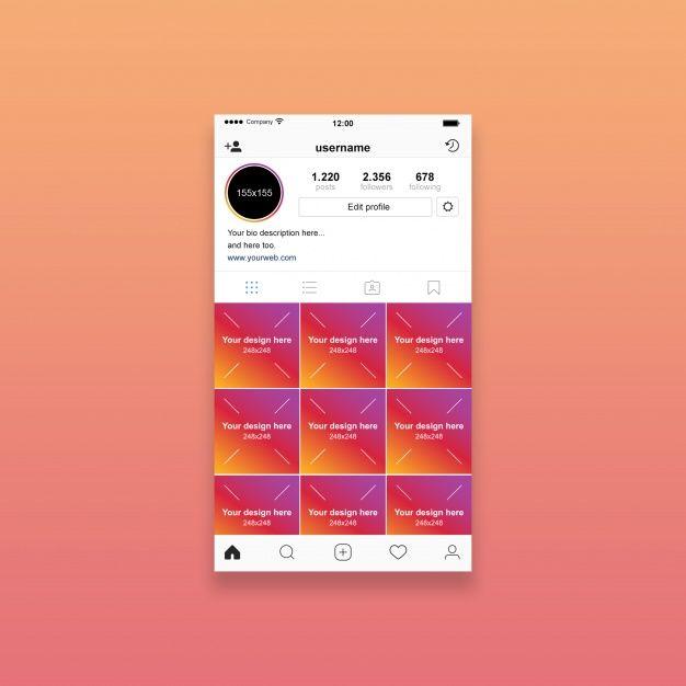 Instagram Profile Mockup In 2020 Instagram Mockup Graphics Design Ideas Instagram Logo
