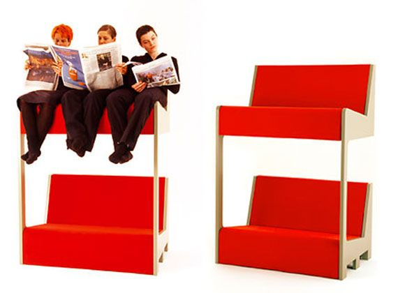 Double Decker Bunk Sofa via Swiss Miss. I've always wanted to ride on