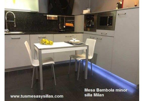 Mesa de cocina Bambola de cancio en medida de 80x52 cm y extensible ...