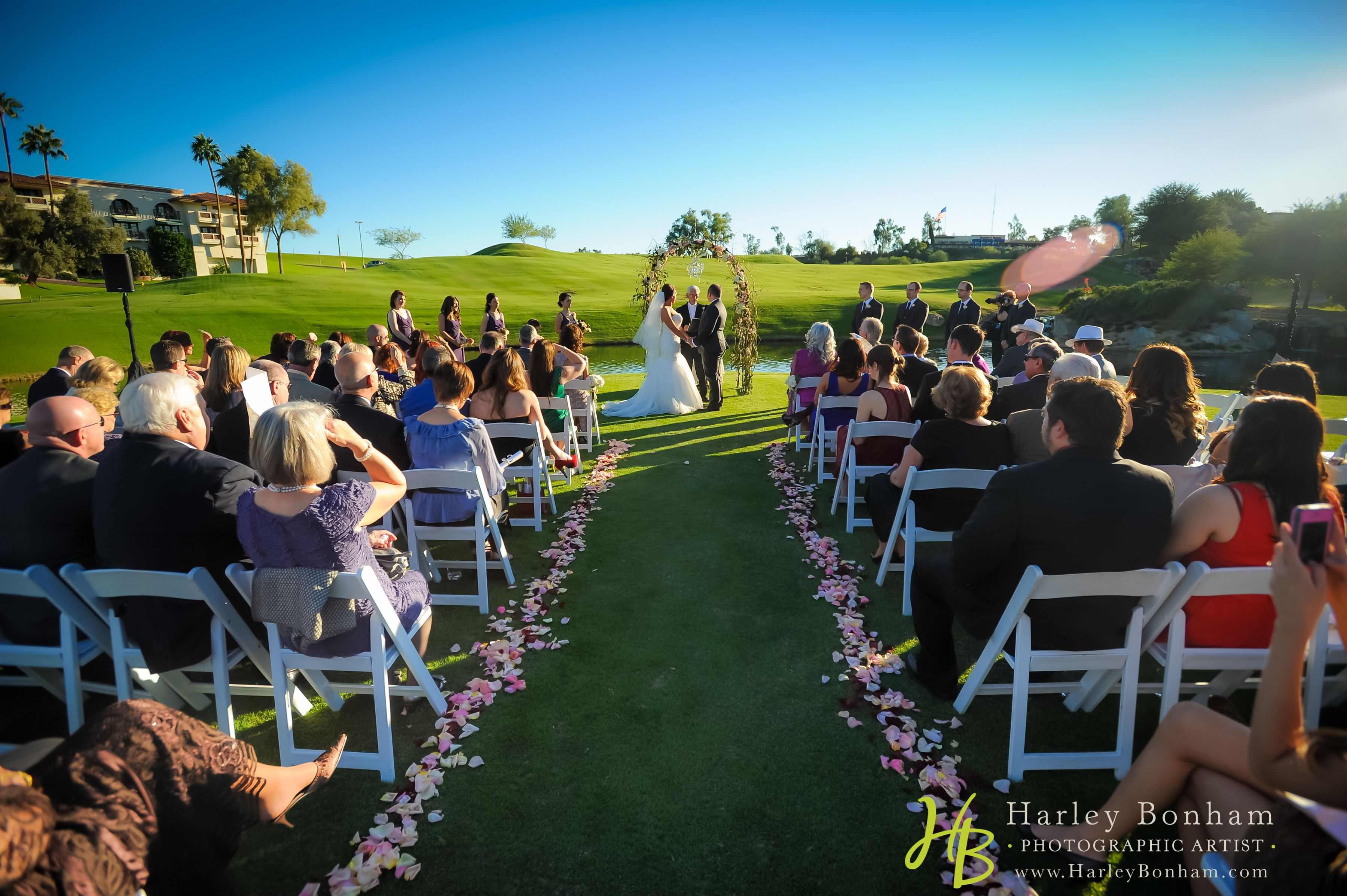 Arizona Grand Resort And Spa Beautiful Outdoor Wedding On The Golf Course