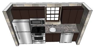 Small One Wall Kitchen By Kbulsara13 3d Warehouse Draw On Other