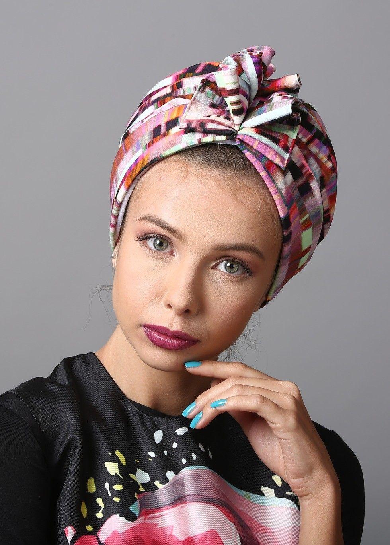 как одевать платок на голову показать фото