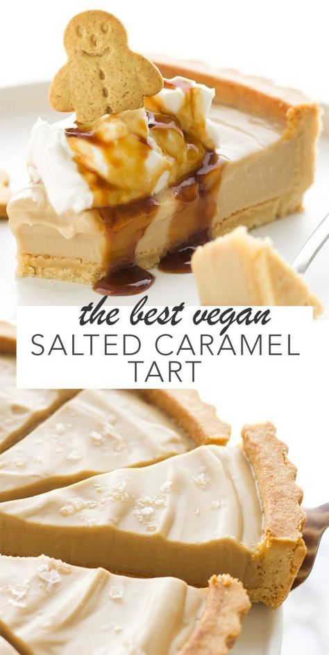 The Best Vegan Salted Caramel Tart - Amy Le Creations #sweetpie