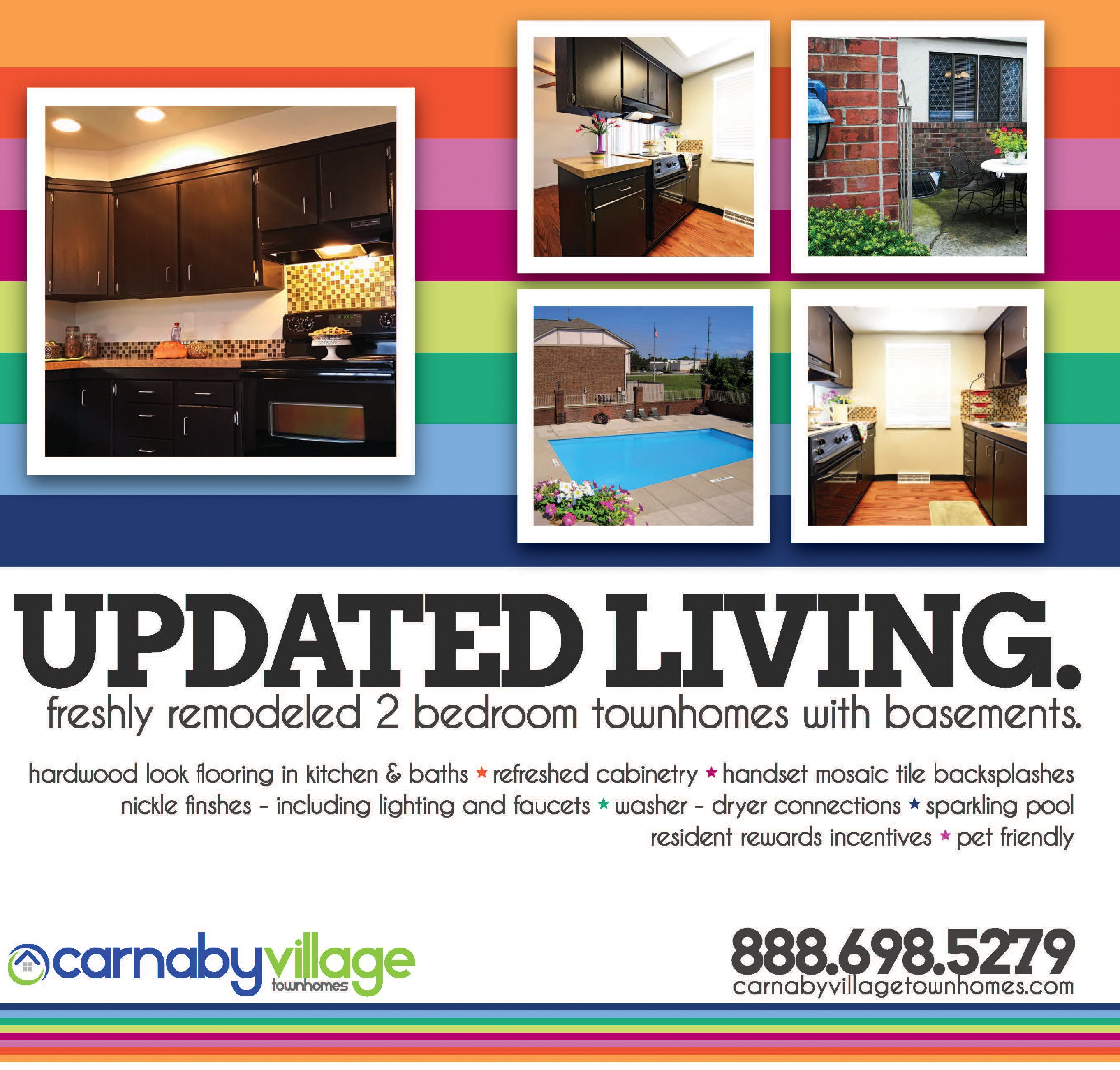 Carnaby village townhomes columbus ohio mosaic tile