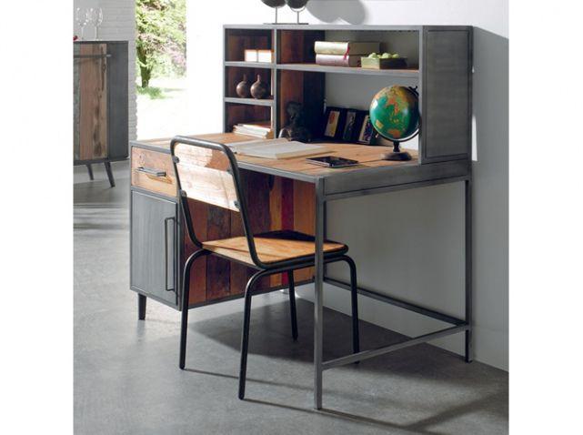 bureau enfant bois metal cocktail scandinave with lit enfant cocktail scandinave. Black Bedroom Furniture Sets. Home Design Ideas
