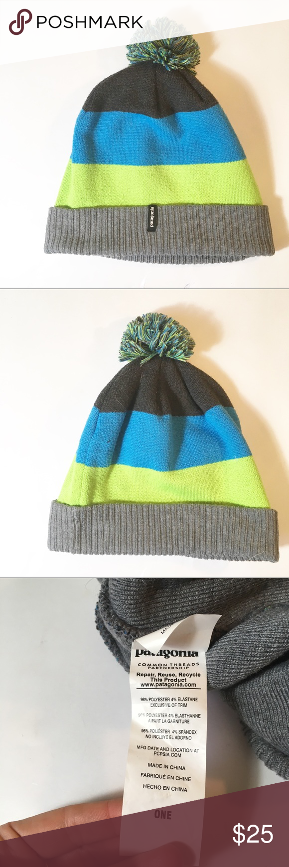separation shoes official supplier online for sale Patagonia Pom Pom beanie stocking cap hat Excellent used condition ...