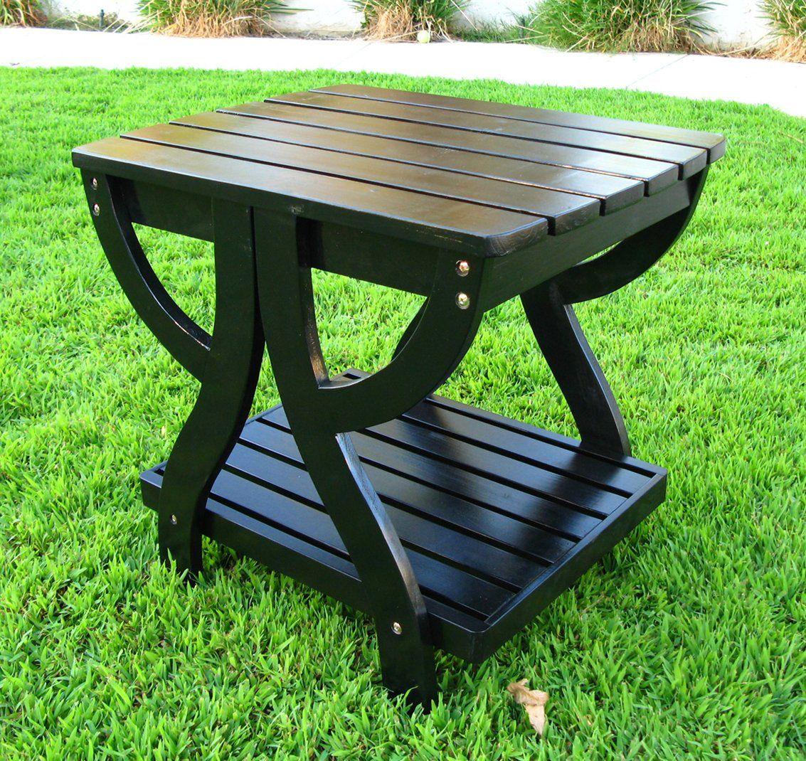 Shine Company 4101 Rectangular Outdoor End Table Patio