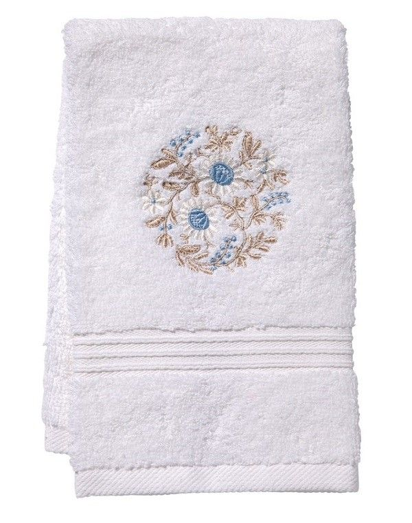 Spring really is just around the corner. Bring a touch to your bath or guest room with embroidered guest towels.