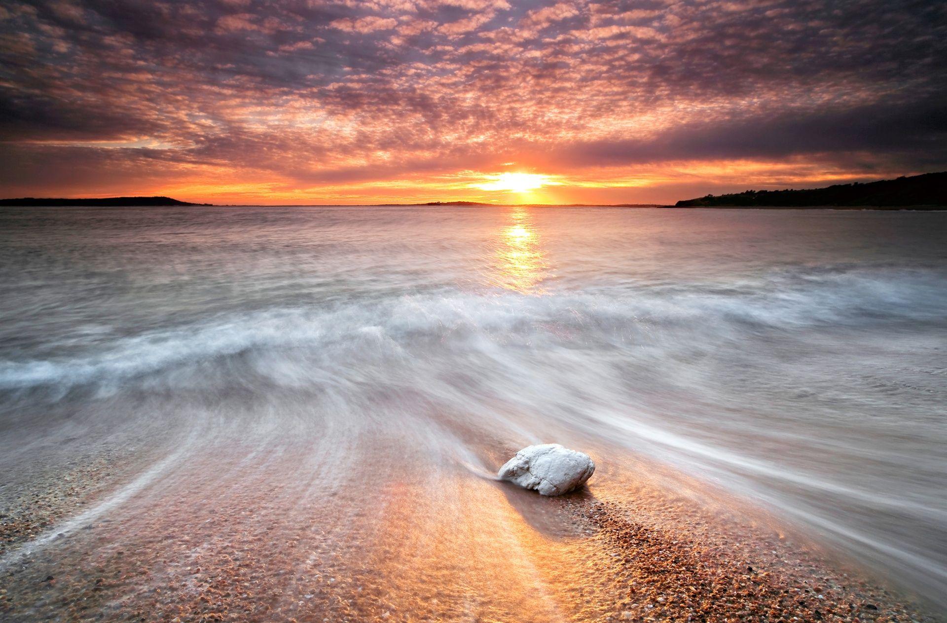 Lane Wave Exposure Sea Water Flows Stone Beach Sunset Rocks Sun Light Sky Sunset Nature Sunset Sunset Images Hd wallpaper clouds beach sea rocks