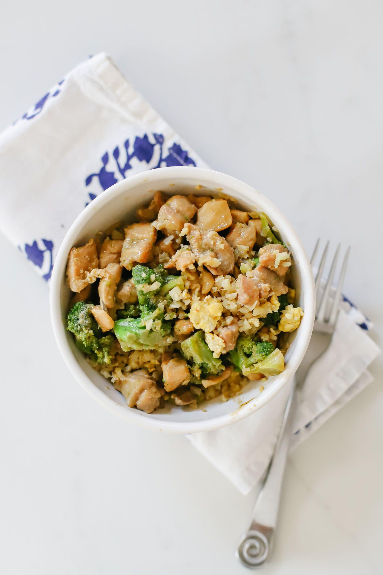 Keto Cauliflower Fried Rice and Ginger Chicken & Broccoli #cauliflowerfriedrice