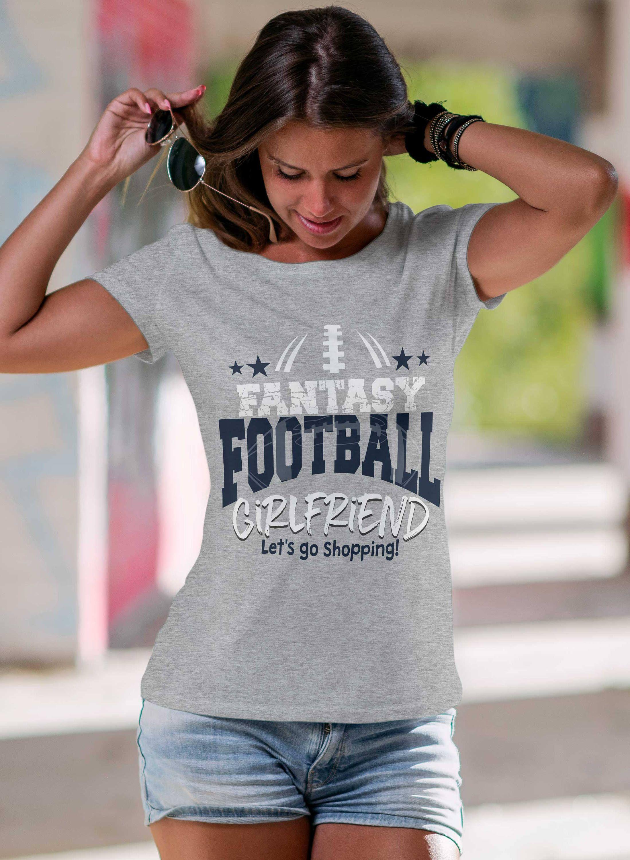 Fantasy Football Girlfriend fun ladies tshirt, Football