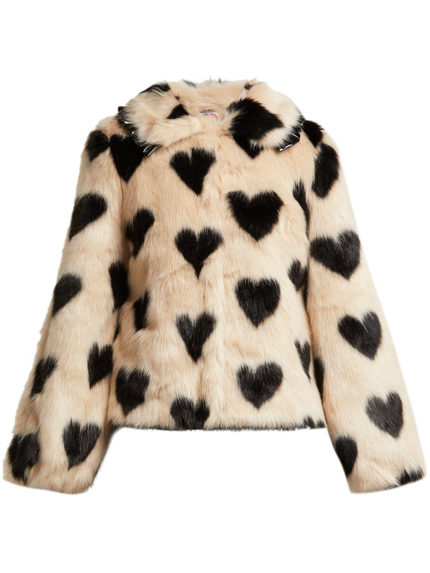 f88e318e52 Cullen heart-print faux-fur jacket
