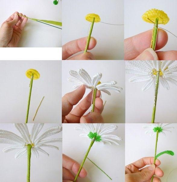 Французские цветы бисером