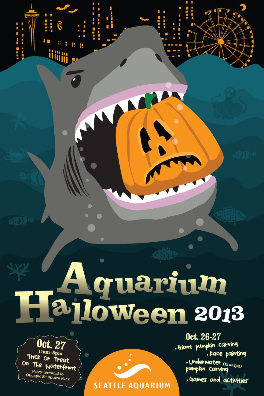 halloween at the seattle aquarium, october 26-27, 2013. join us! www