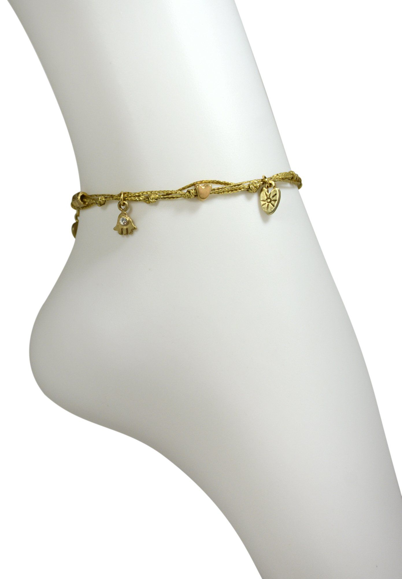 gold anklet overstock rose product shipping jewelry ankle black bracelet today watches free hills