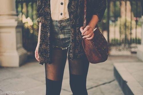 faux thigh highs fashion girl fall style trendy fall fashion fashion photography