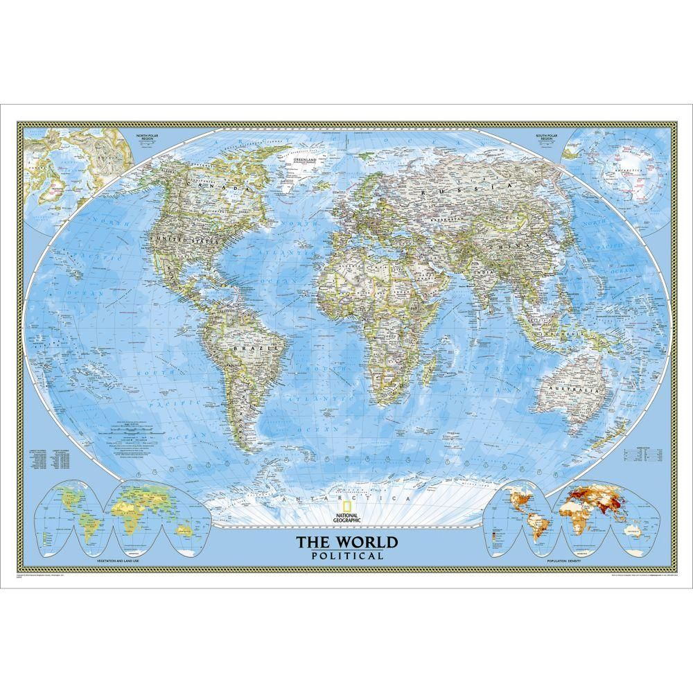 world classic wall map laminated 36 x 24 inches on laminated wall maps id=70800