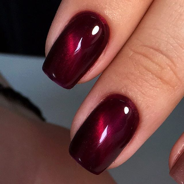 gel polish - cat eye with stained
