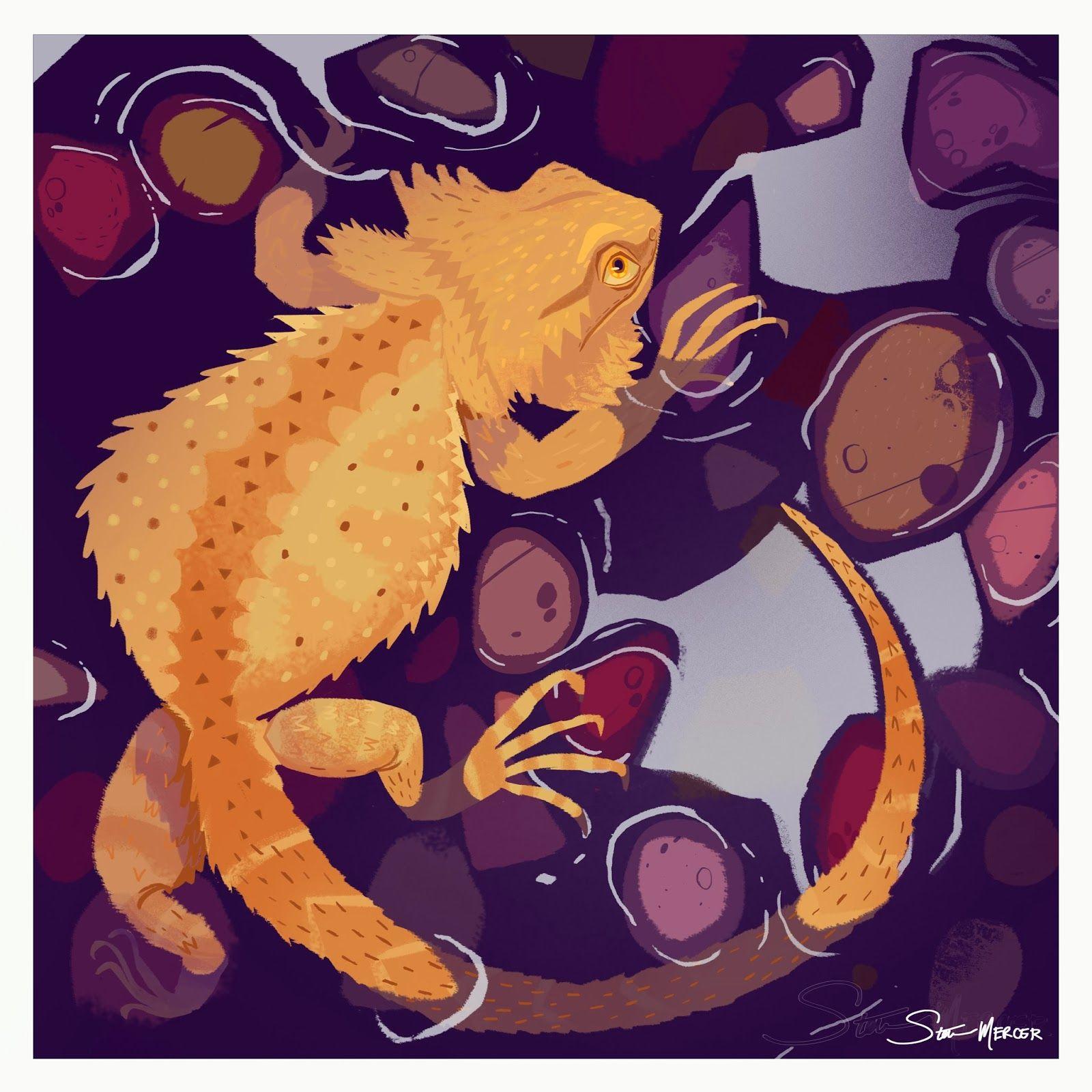 Bearded Dragon Illustration by Steve Mercer   Cool Art   Pinterest ...