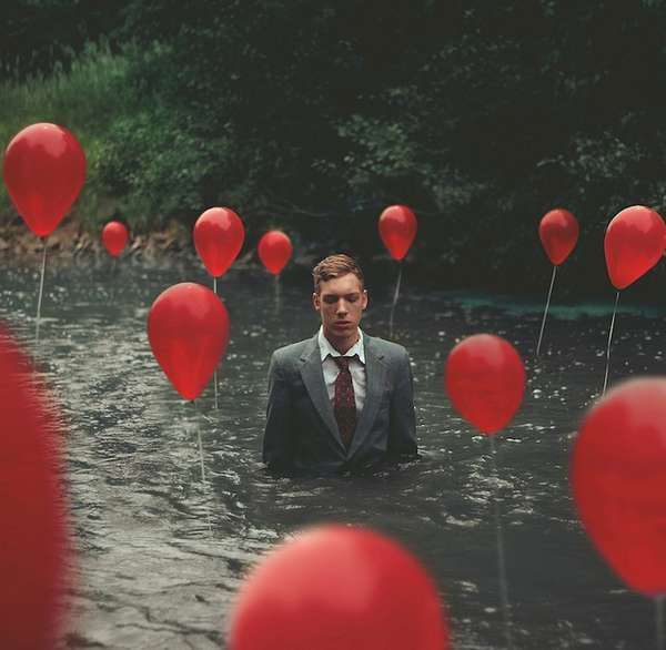They wouldn't let go of their balloons, even after he drowned them.