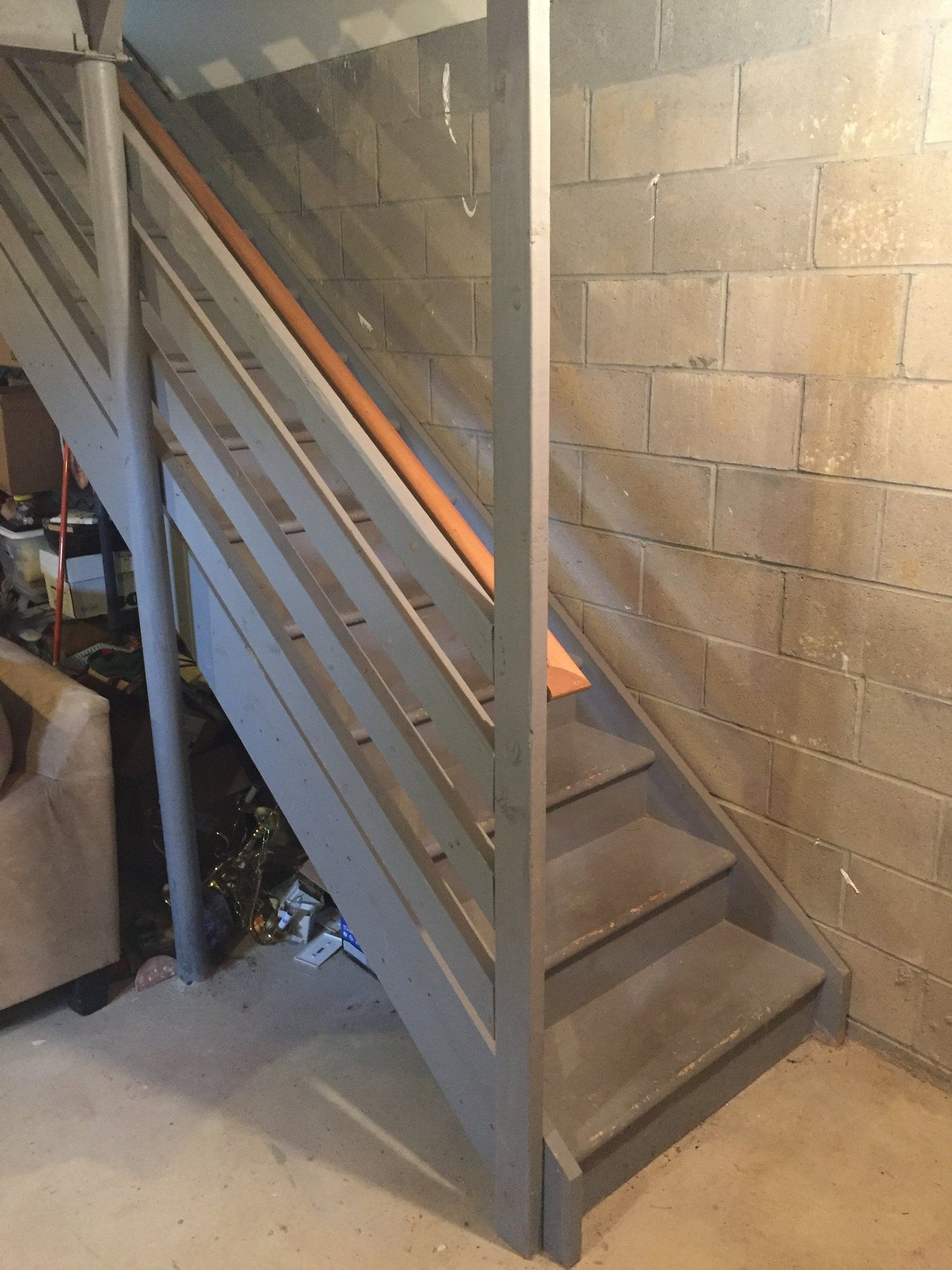 Best Staircase Remodel Diy Basement Stair Transformation 640 x 480