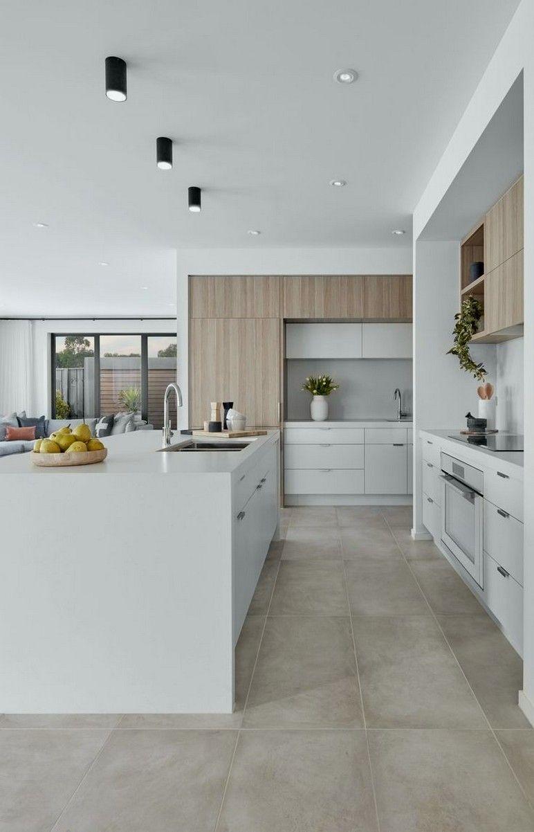 35 Elegant Contemporary Kitchen Design Ideas 00028 In 2020 Contemporary Kitchen Design Modern Kitchen Design Home Decor Kitchen