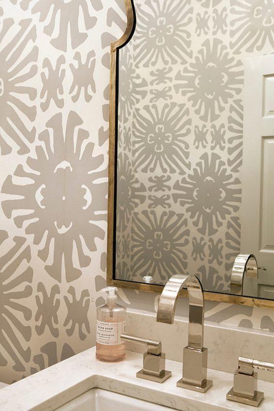 Quadrille Sigourney Wallpaper Bathroom Creative Tonic