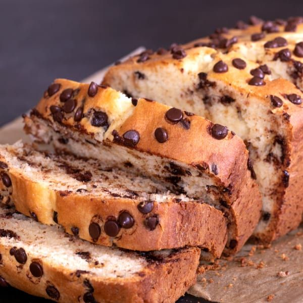 Gluten Free Chocolate Chip Quick Bread #glutenfreebreakfasts