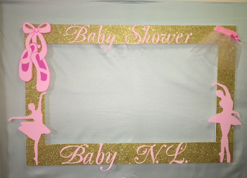 Awesome Ballerina Booth Frame To Take Pictures Royal, Princess Baby Shower Pink Gold