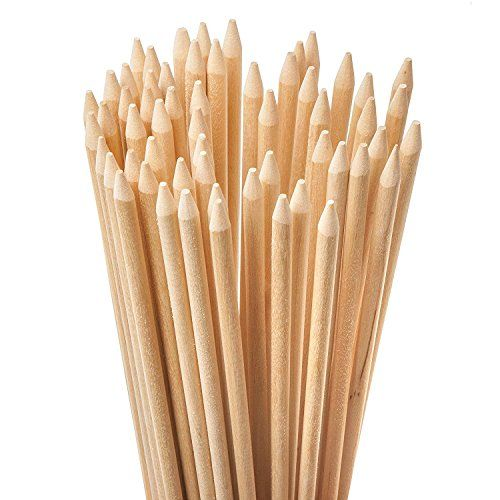 Bamboo Marshmallow Roasting Sticks 5mm Thick Extra Long Heavy Duty Wooden Hot Dog Smores Sticks Shish Kabob Skewers Fire Pit Campfire Cooking Kids, 30 L, 100 Piece | All4Hiking.com