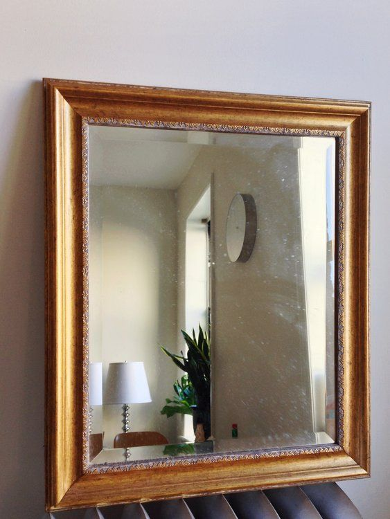 Vintage Gold Mirror | Vintage gold mirror, Gold framed mirror and ...