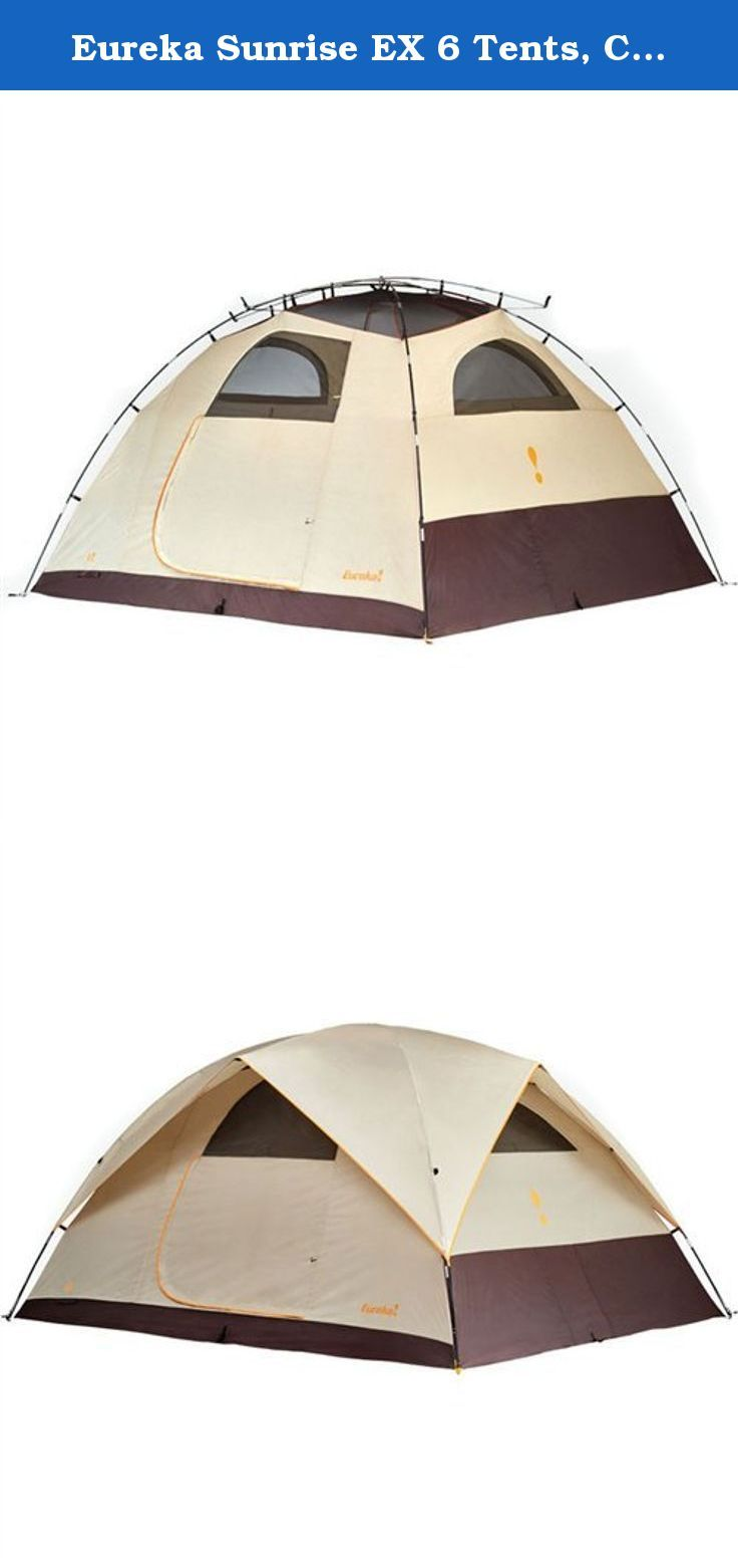 Eureka Sunrise EX 6 Tents Cement/Java/Orange. Room with a view! Time outdoors is time well spent; but when itu0027s u0027tent timeu0027 the Sunrise EX will provide ...  sc 1 st  Pinterest & Eureka Sunrise EX 6 Tents Cement/Java/Orange. Room with a view ...