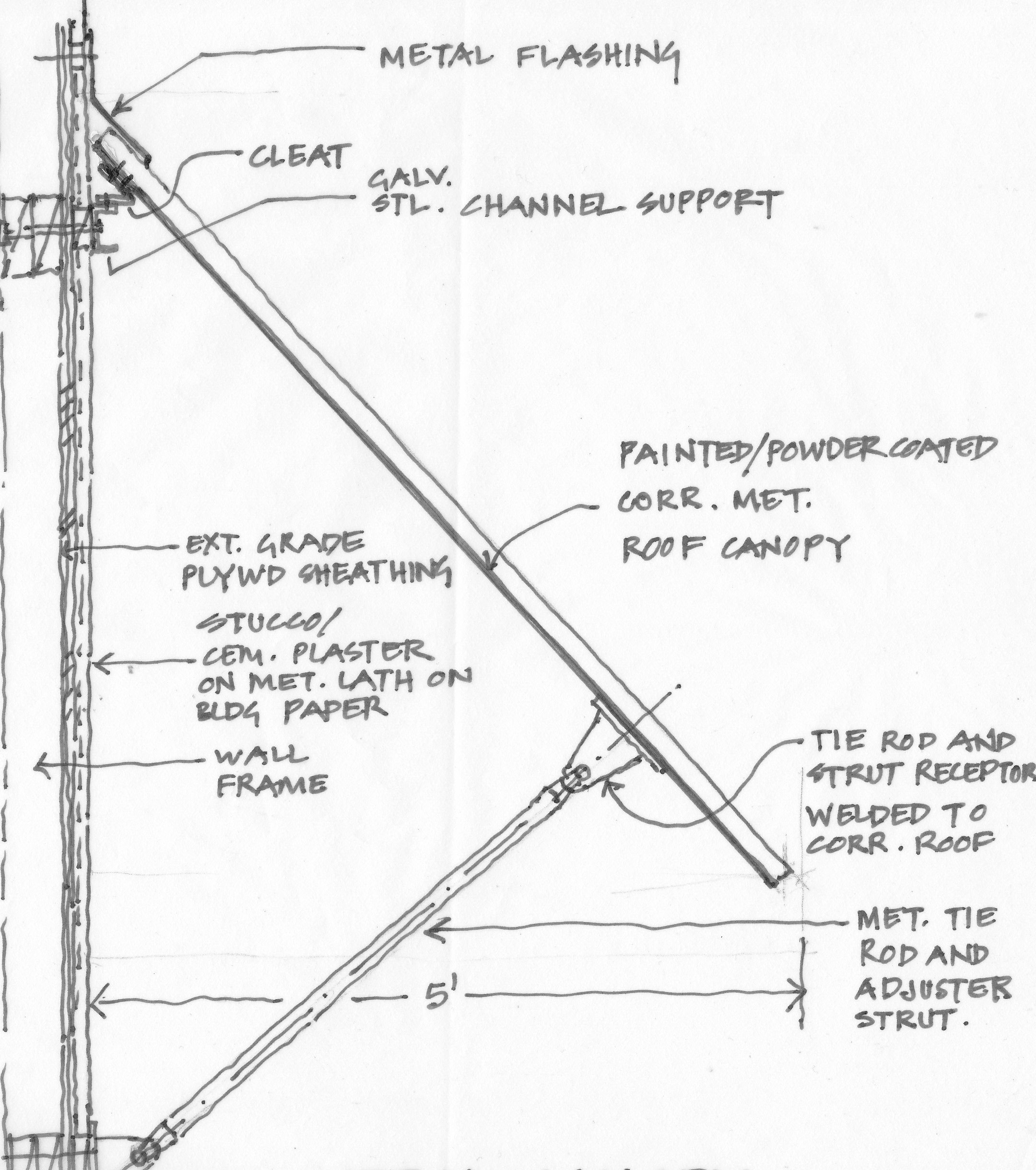 Awning Detail My Own Concept Design Architecture Design Design
