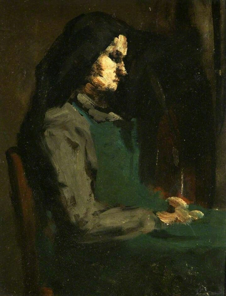 Woman with a Green Apron  Augustin Théodule Ribot (1823–1891)  Bristol Museum & Art Gallery