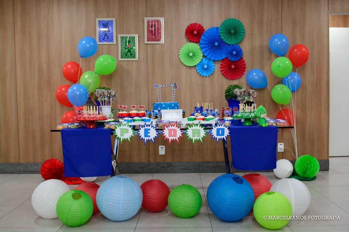 Mesa decorada do pj masks festas infantis pinterest mesa decorada do pj masks thecheapjerseys Images