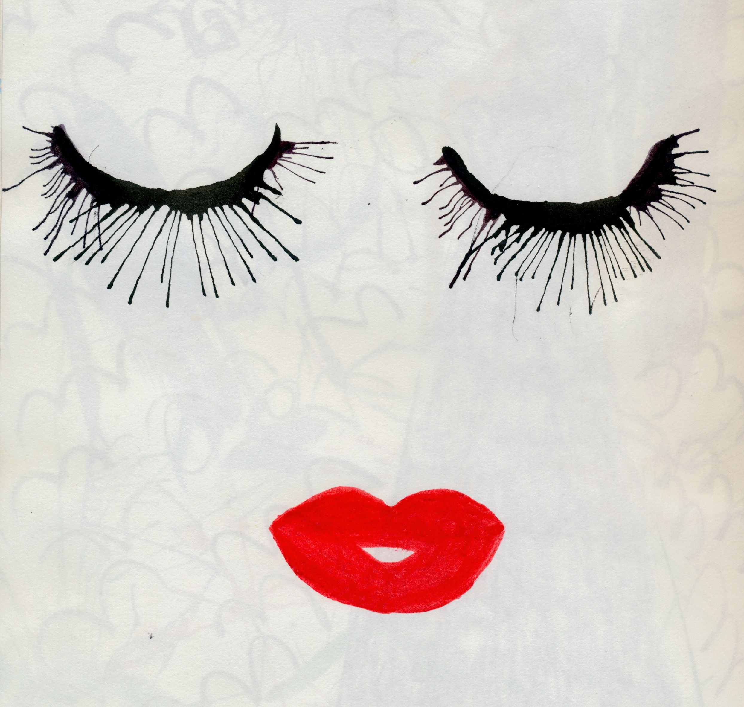 lashes and lips painting