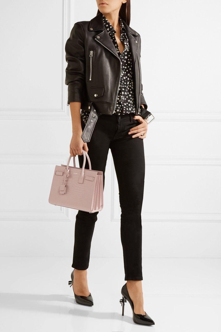 13716385706 Saint Laurent | Sac De Jour Baby croc-effect leather tote | NET-A-PORTER.COM