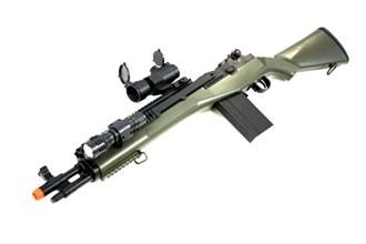 AGM M14 SOCOM RIS Airsoft Sniper Rifle w/ Flashlight and ... M14 Tactical Sniper Rifle