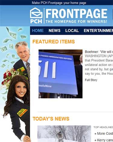 PCHFrontpage - The Homepage for Winners! pchfrontpage com PCH Search