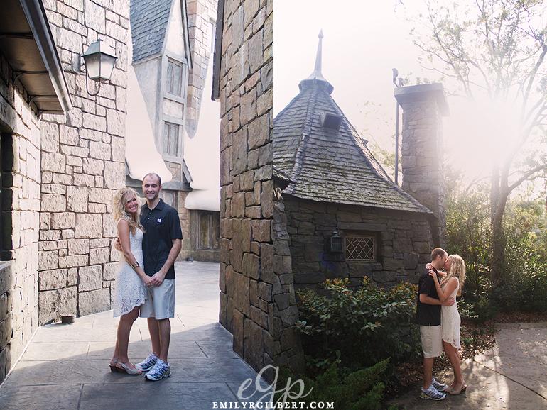 Stephani Adam S Hogsmeade Engagement Session Universal Orlando Wedding Photographer E Gilbert Photography Wizarding World Of Harry Potter