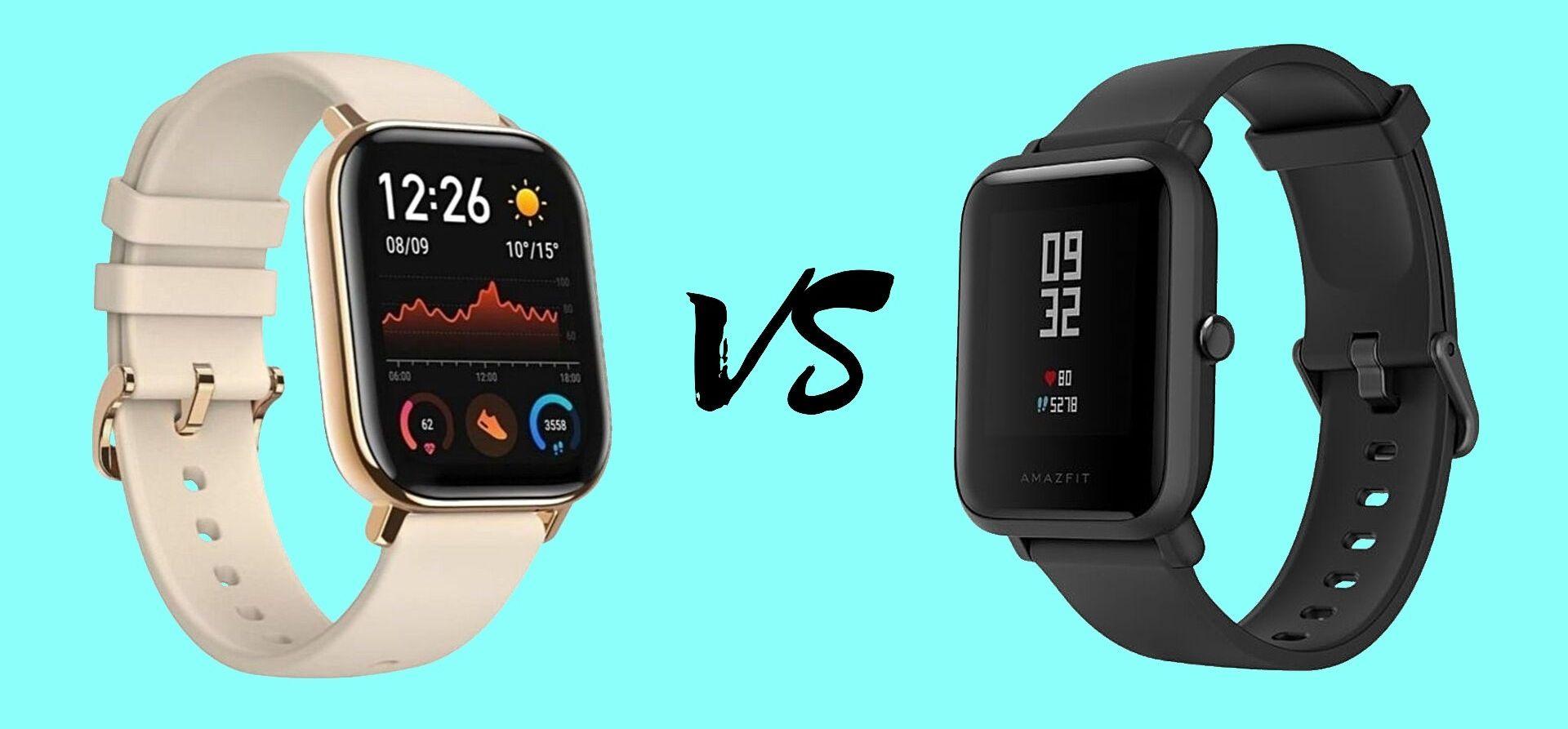 Amazfit Gts Vs Amazfit Bip 2 Comparativa De Especificaciones Smartwatch Sensor De Luz Ahorro De Energia