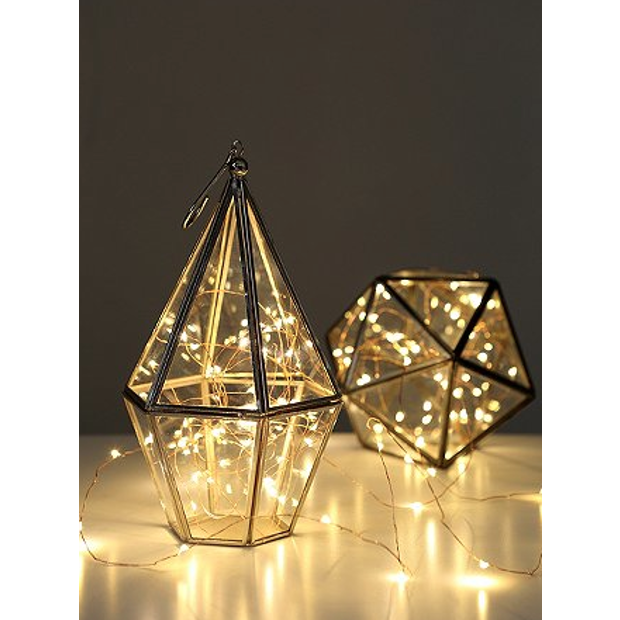 Lighting Fairy Lights Diamond Glass Lanterns www.naturalhistory.co.uk Lighting Pinterest ...