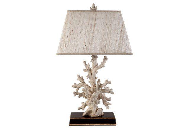 Caribbean coral table lamp creamwalnut dream lighting caribbean coral table lamp creamwalnut mozeypictures Images