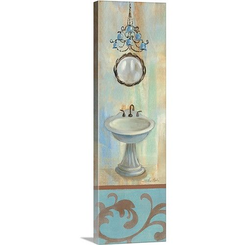 Found it at Wayfair - 'French Bathroom in Blue II' by Silvia Vassileva Painting…