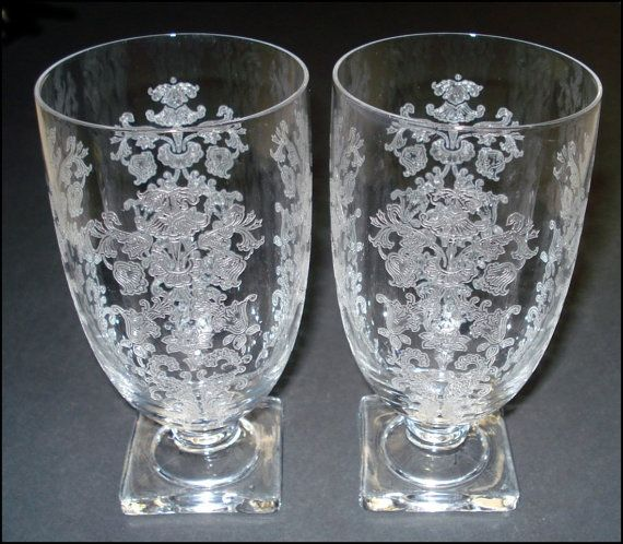Fostoria Queen Anne Footed Tumblers Set Of By Susansshopselections