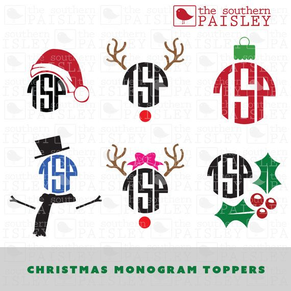 Download These Christmas Monogram Topper files are for use in your ...