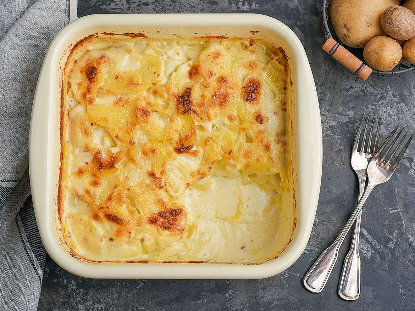 Kartoffelgratin-Rezept: So wird der Auflauf schön cremig