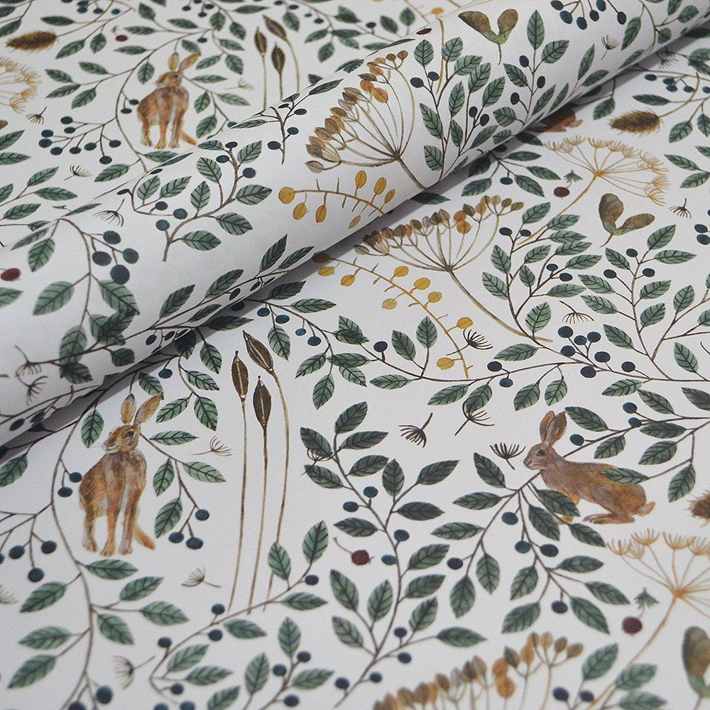 Decorative Gift Wrap - Hares And Berries