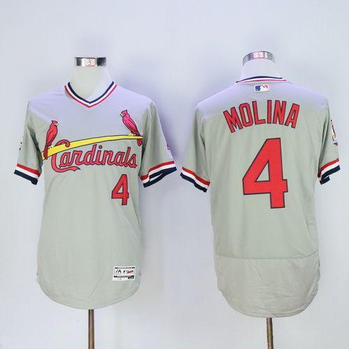 Men's St. Louis Cardinals #16 Kolten Wong Gray Pullover 2016 Flexbase Majestic Baseball Jersey